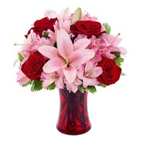 """Make me Blush"" bouquet of flowers (BF383-11K)"